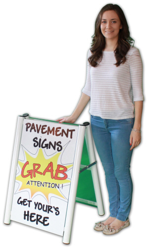 Small Arden Pavement Sign with Grab Attention graphics