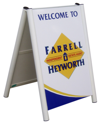 Medium Arden Pavement Sign with Farrell Heyworth graphics