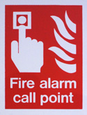 Safety Signs Fire alarm call point