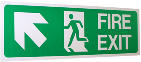 Safety Sign fire exit