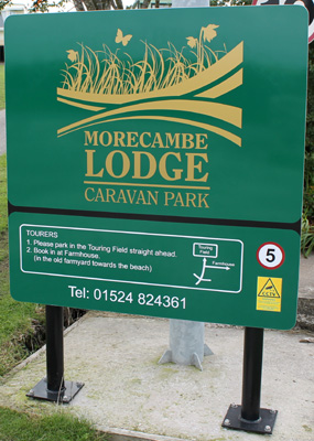 Morecambe Lodge Panel & Post Sign