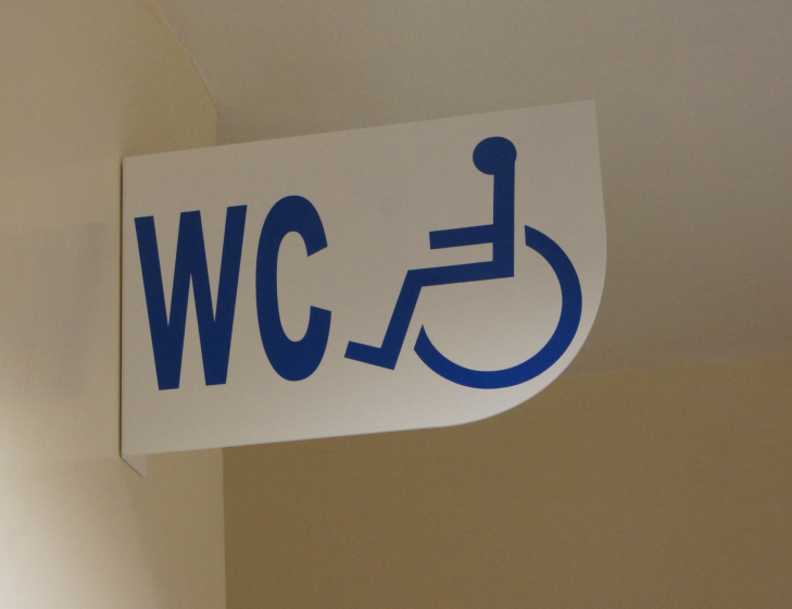 Pro-Panel sign with WC & Disabled logo