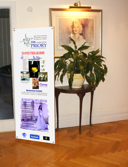 X-Splay Banner Stand in reception